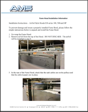 100 Series Fume Hood Installation Instructions