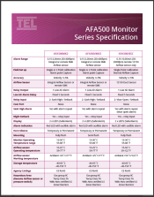 AFA500_Monitor_Specification