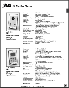 Catalog pages Air Monitor Alarms