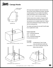 Catalog pages Canopy Hoods