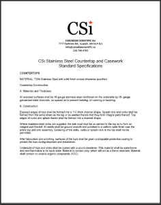 CSi Stainless Steel CSP AD CW Specs