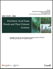 Canadian Government Perchloric Acid Fume Hood Specs