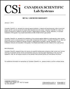 Warranty CSi Casework 2013