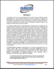 Warranty Durcon Epoxy