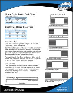 Drain Board DrainTops