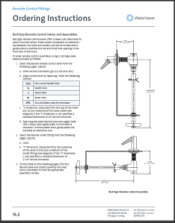 WaterSaver Fume Hood Fittings Ordering Inst.
